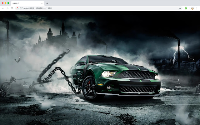 Ford MUSTANG New Tab Page Themes
