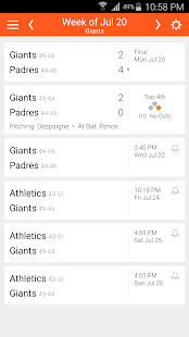 Baseball Schedule for Giants: Live Scores & Stats - náhled