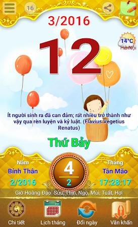 Lich Van Nien - Lịch VN 2016 7.5 screenshot 334416