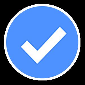 Verified badge on Instagram TikTok Facebook 4googleplay by vedb.me logo