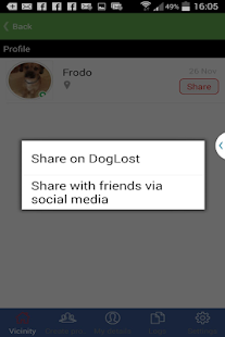 Doglost - Reuniting dogs- screenshot thumbnail
