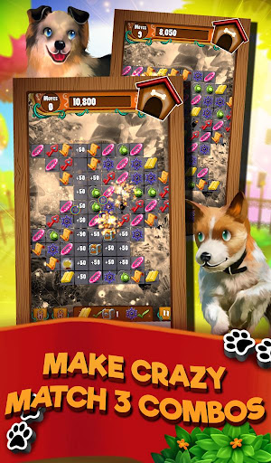Match 3 Puppy Land - Matching Puzzle Game apkmr screenshots 2