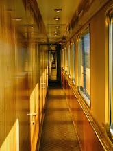 Photo: Wood paneled hallway
