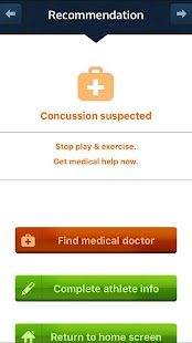 FirstResponder™ Concussion App- screenshot thumbnail