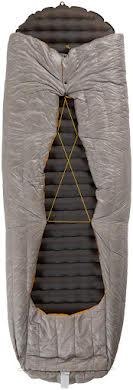 NEMO Siren 45, 850-fill DownTek Ultralight Sleeping Bag/Comforter: Granite, Regular alternate image 1