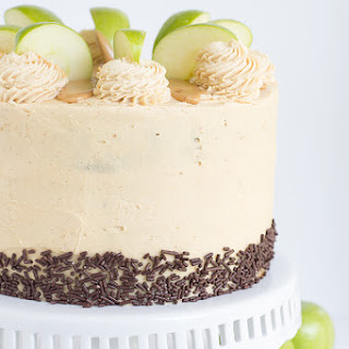 Apple Cake with Peanut Butter Frosting