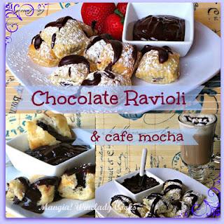 Chocolate Ravioli Pillows