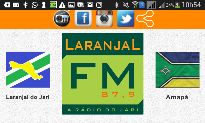 Rádio Laranjal FM 87,9- screenshot