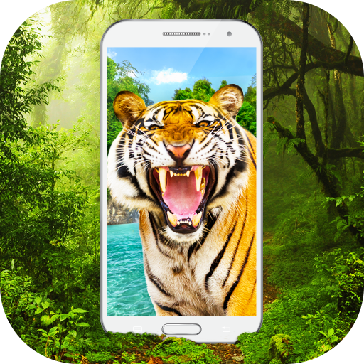 Tiger in Phone Prank Icon