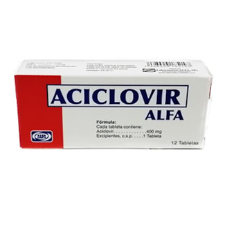 aciclovir 400mg 12tabletas alfa