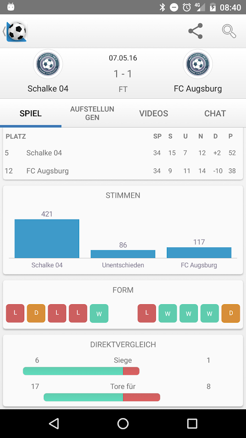 fussball ergebnisse app