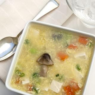 Mushroom and Egg Flower (Kinoko Tamago) Soup.