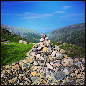 Manmade Monument by Griff Johnson - Instagram & Mobile Android ( religion, hills, shrine, sky, hardknott pass, lake district )