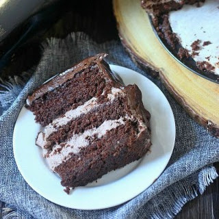 Baileys Irish Cream Chocolate Mousse Cake.