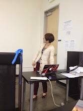 Photo: Corina Nistorica, Principal Engineer at FUJIFILM Dimatix, Inc talking about printed electronics at the Meetup