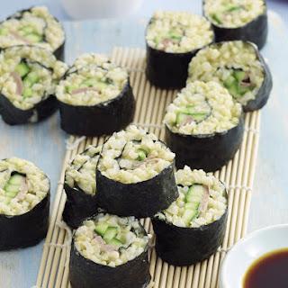 Cucumber and Beef Nori Rolls.