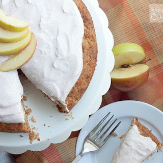 Apple Carrot Cake with Greek Yogurt Frosting.