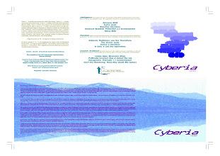Photo: Master Artwork: CDCOM5, Cyberia, released Mar 1995. Design by Dennis Remmer.
