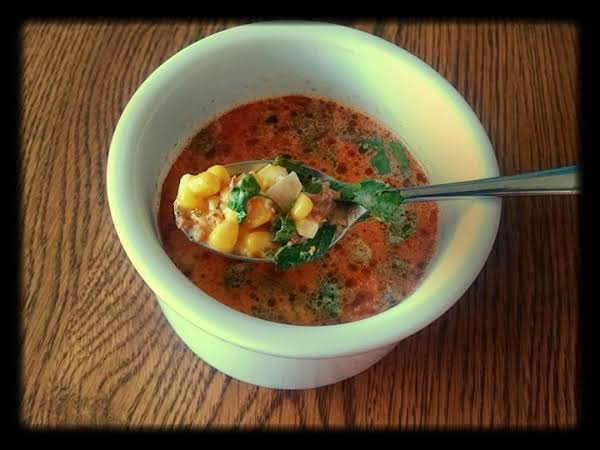 Chorizo And Sweet Corn Soup With Queso Chihuahua