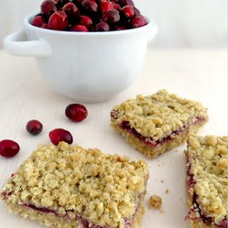 Cranberry Crumb Bars.