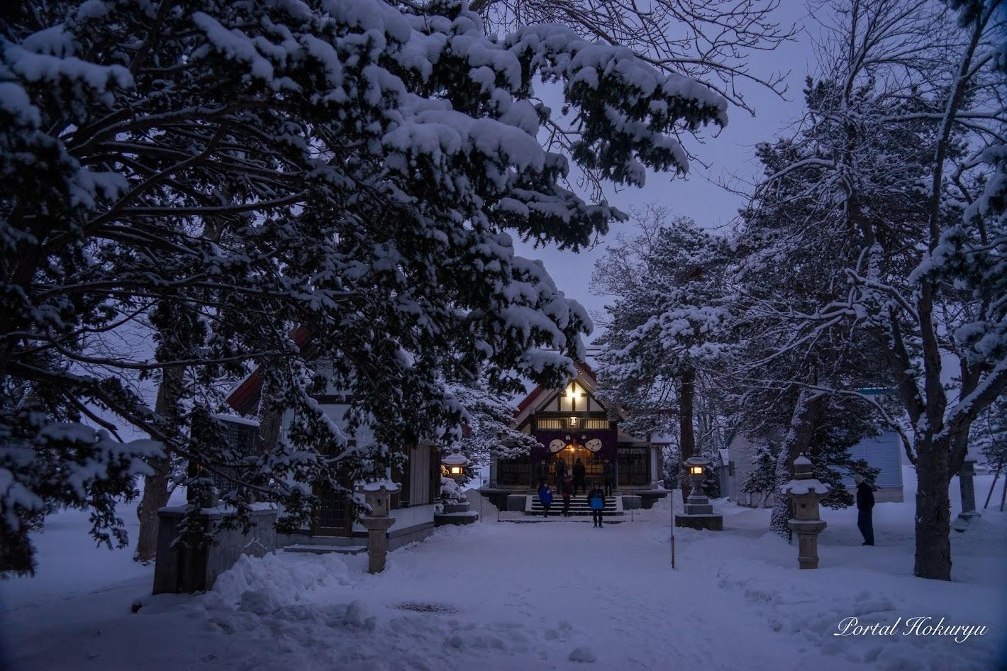 元旦の真竜神社(北竜町和町)