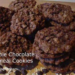 Double Chocolate Oatmeal Cookies.