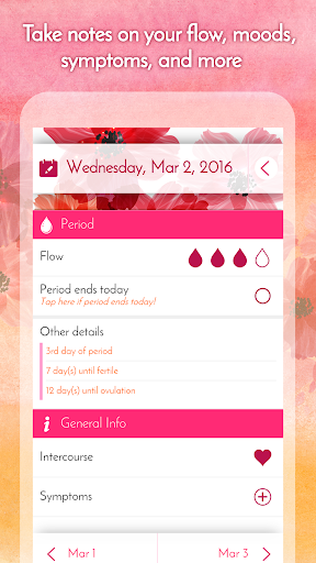 My Calendar - Period Tracker app (apk) free download for Android/PC/Windows screenshot