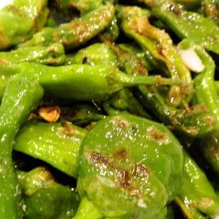 Pan Fried Padron or Shishito Peppers.