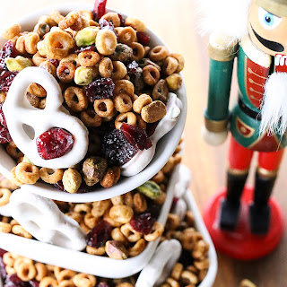 Cranberry Pistachio Christmas Snack Mix.