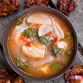 Salmon-Miso Sinigang (Filipino Sour Soup).