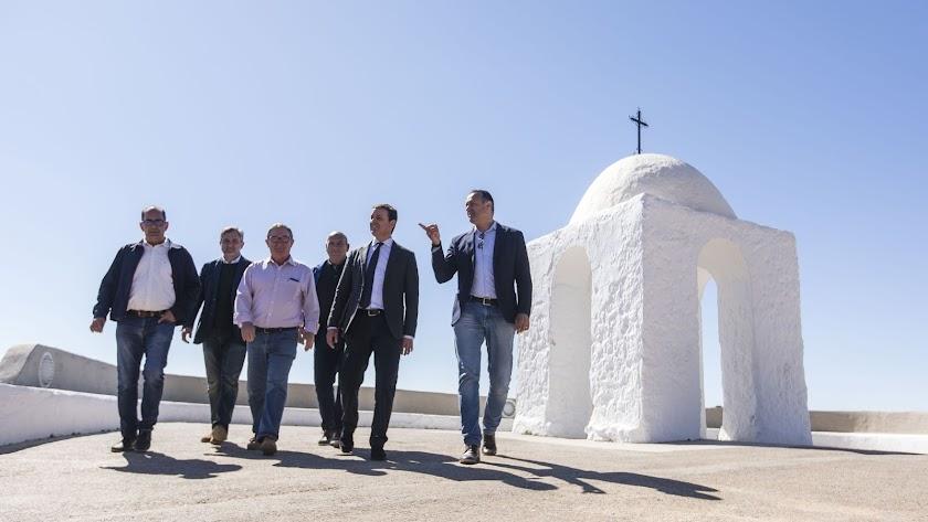 Visita institucional del presidente de la Diputación Provincial de Almería al municipio de Felix.
