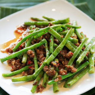 Beef Stir Fry with Green Beans.