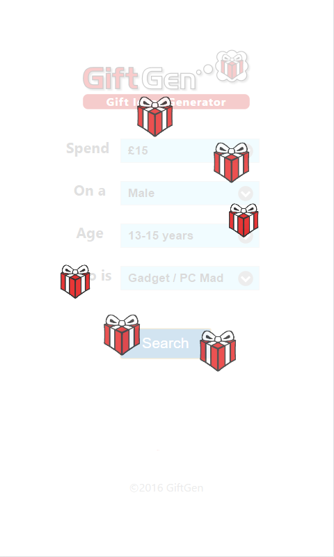 GiftGen - Gift Ideas Generator- screenshot