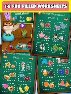Preschool Worksheet For Kids - Match the Objects- screenshot thumbnail