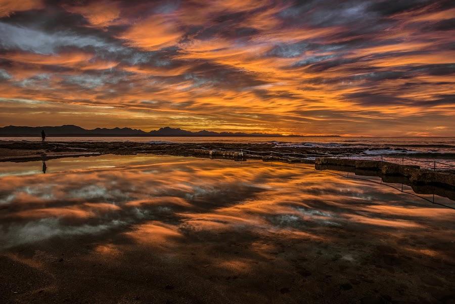African Sunrise by Michael De Nobrega - Landscapes Sunsets & Sunrises ( sunrise, ocean, reflection, beach, landscape,  )