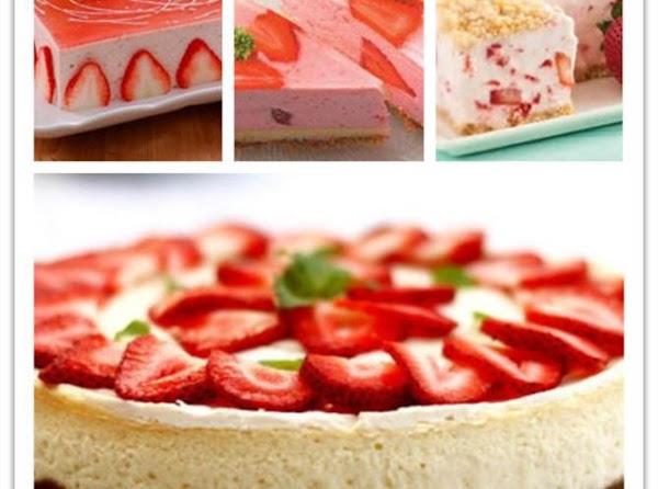 Frozen Strawberry Cheese Cake Recipe