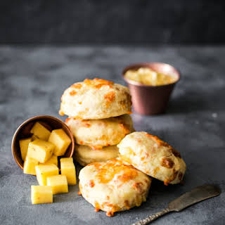 Pepper Jack Biscuits with Honey Butter.