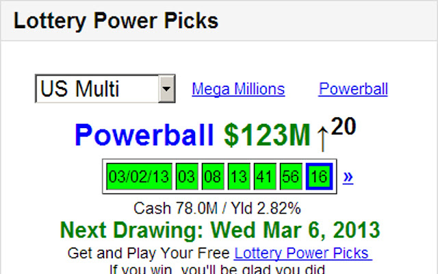 Lottery Power Picks Drawing Results
