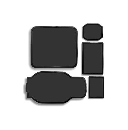 DEMCiflex magnetisk filtersett for Corsair 600T, sort