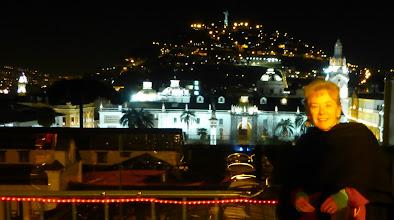 Photo: Sheila on roof of Vista Hermosa Restaurant