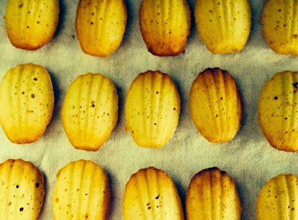 Remove Madeleines from oven and let rest for two minutes. Using a fork if...