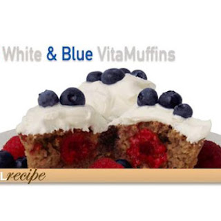 Red, White, and Blue Muffins.