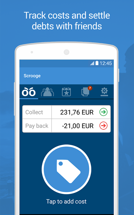 Scrooge - Fair Splitting App- screenshot