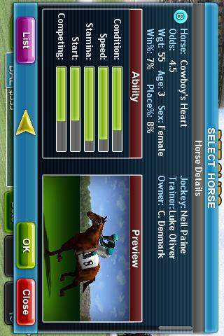 Virtual Horse Racing 3D 1.0.7 screenshots 3