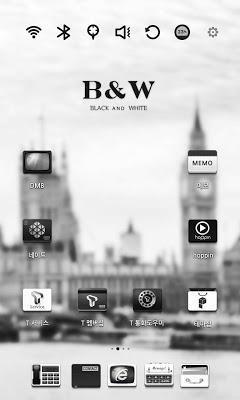 Black and White Launcher Theme - screenshot