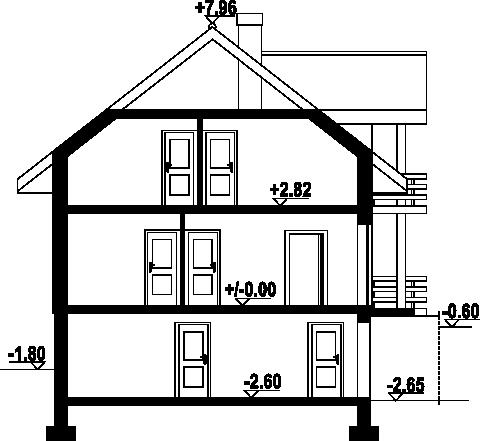 Osina - Przekrój