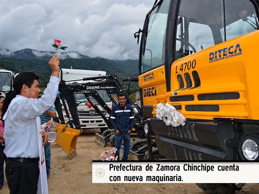 PREFECTURA DE ZAMORA CHINCHIPE CUENTA CON NUEVA MAQUINARIA.