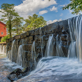The Mill by Bud Walley - Buildings & Architecture Bridges & Suspended Structures ( tennessee, creek, water falls, grist mill, state park )