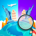 Find the differences: Traveling The World icon