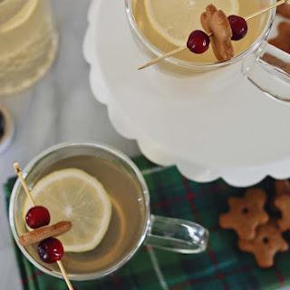 Hot Ginger Toddy Recipe With a Bonus Gingerbread Man Garnish